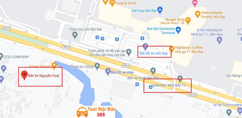 Đường đi đến bãi gửi xe Nguyễn Huệ