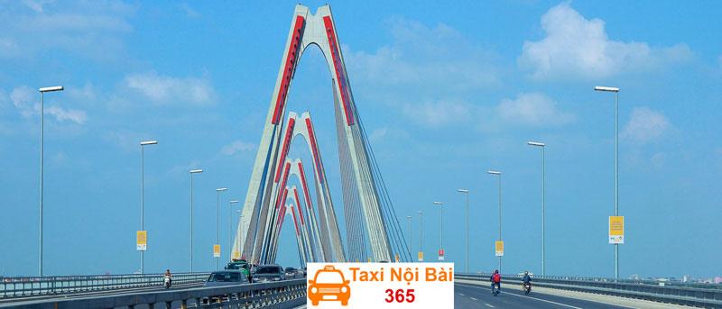 Tuyến đường 2 đi qua cầu Nhật Tân