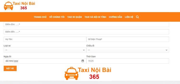 Hướng dẫn chi tiết cách đặt Xe Taxi Nội Bài 365