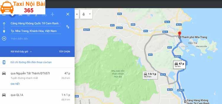 Sân bay Cam Ranh cách trung tâm thành phố bao nhiêu km