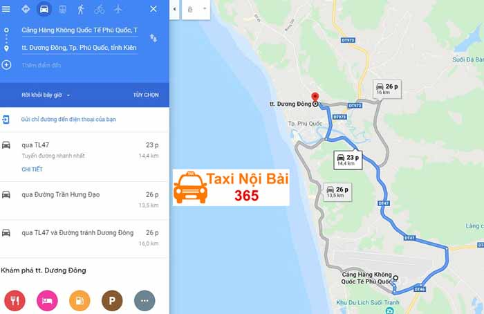 Thời gian và quãng đường từ sân bay đến trung tâm thành phố Kiên Giang